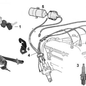 IGNITION SWITCH/LEAD SPARK PLUGS